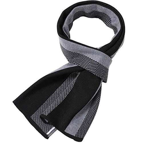HONGNA Écharpe en Tricot de Cachemire tricoté Chaud pour Hommes d'hiver pour Hommes d'affaires d'hiver 30 * 180 cm,Gray