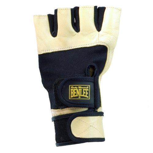 BENLEE Rocky Marciano Fitness Handschuhe Fitness Gloves, Schwarz/Gelb, Größe: M