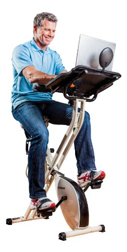 FitDesk 2.0 Adjustable Desk Exercise Bike with Massage Bar - Desk Bike to Work while Exercising