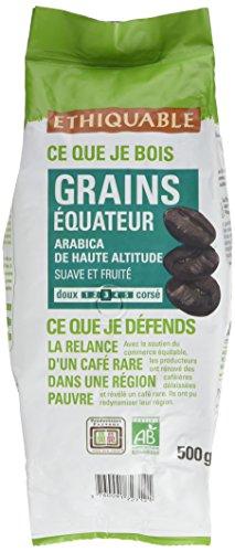 Ethiquable Café Grains Equateur Bio 500 g