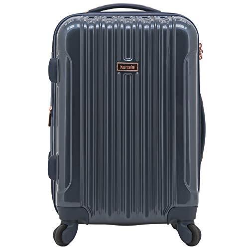 kensie 20' 'Alma' Carry-On TSA-Lock Spinner Luggage, Mystery Blue