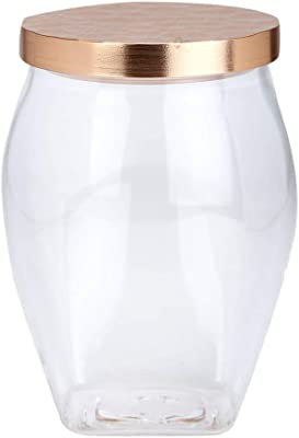 HomeStop IVY Canister with Rose Gold Lid - 1.1 L (Clear_Free Size)