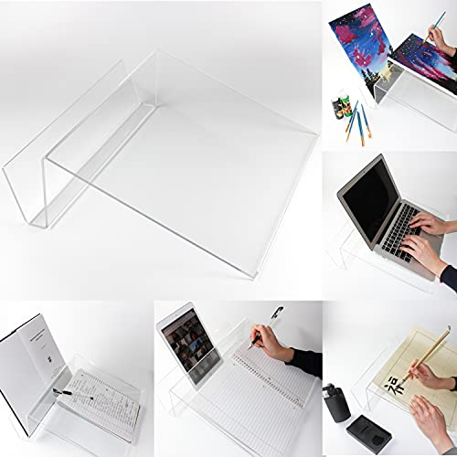 SILLY MONKEY Slant Board for Writing – Writing Slope with Tablet Book Holder Slot Anti-Slip Border Edge - Ergonomic Writing Slant Board for Improved Handwriting, Posture, Grasp and Endurance