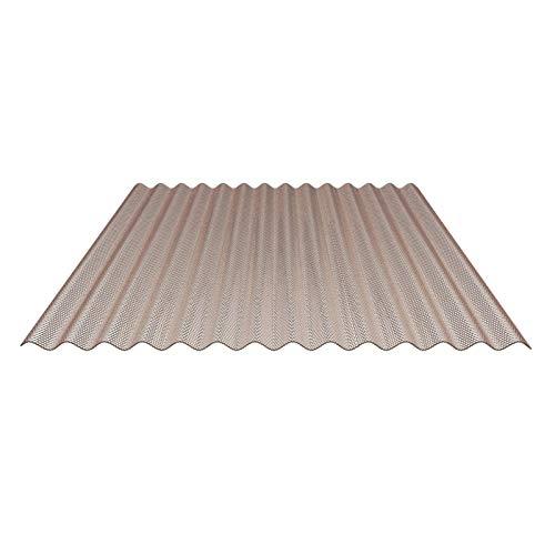Lichtplatte | Wellplatte | Lichtwellplatte | Material Acrylglas | Profil 76/18 | Breite 1045 mm | Stärke 3,0 mm | Farbe Bronze | Wabenstruktur
