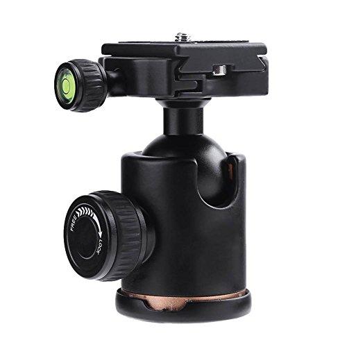 Foru-1 Q02 Camera Statief Ball Head Balhoofd met Quick Release Plaat 1/4 in Schroef