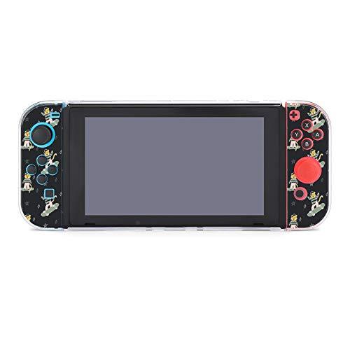 Hülle für Nintendo Switch Tiger Cubs in Caps und Kleidung auf Skateboards Fünfteiliges Set Schutzhülle Case Kompatibel mit Nintendo Switch Spielekonsole