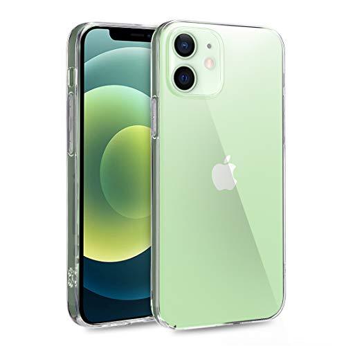 doupi UltraSlim Hülle kompatibel für iPhone 12 Mini (5,4 Zoll), Ultra Dünn Clear TPU Glatte Ruschfeste Oberfläche Design Handyhülle, transparent
