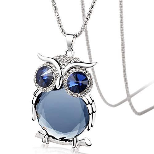Colgante Búho de la Suerte - Joyería - Color azul - Amuletos de la suerte