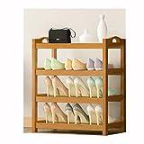 Aveo Zapatero Estante de Zapato de bambú Simple para Poner en la Puerta Cabina de Zapatos para Uso doméstico de la Puerta Zapato de Madera sólido Rack Multi Capa Multi Zapatera (Color : E)