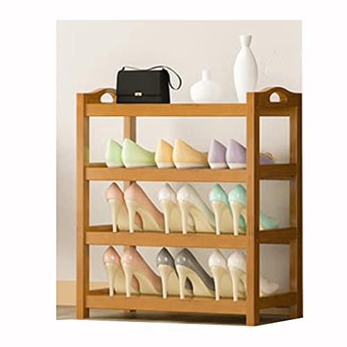 OIFFIY Estante de Zapato de bambú Simple para Poner en la Puerta Cabina de Zapatos para Uso doméstico de la Puerta Zapato de Madera sólido Rack Multi Capa Multi (Color : F)
