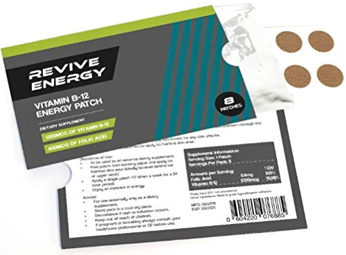 Revive Energy Vitamin B12 1200mcg Energy Patches (Pack of 8) - Feel a Boost in Energy