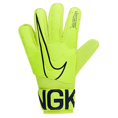 Nike Nk GK Match Jr-Fa19, Guanti da Calcio Unisex Bambini, Volt/Obsidian, 4