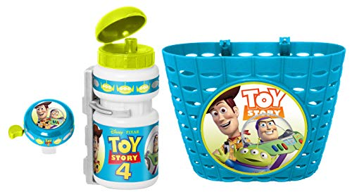 STAMP Unisex Youth Basket + Drinking Bottle + Bell Toy Story 4 Blue