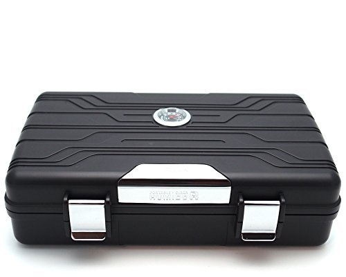 Waterproof Cigar Travel Humidor for 10 Cigars - Integrated Hygrometer...