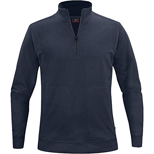 Texstar SW18 Unisex Crew Halbes Reißverschluss Sweatshirt, Größe M, Marine