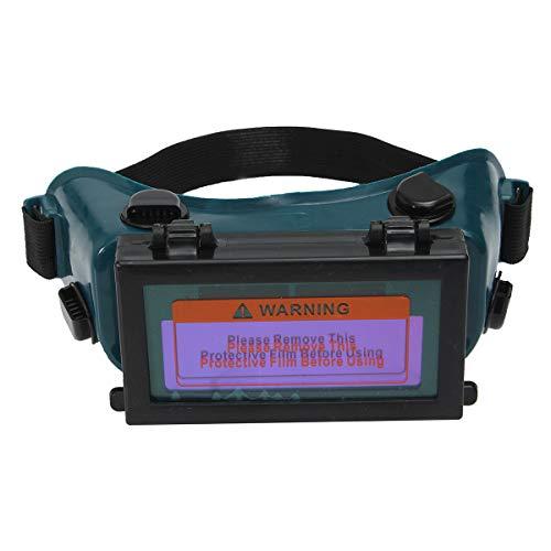 TOOLSTAR Welding Goggles, Auto Darkening LCD Welding Goggles Solar Glasses Mask Helmet ARC Eye Protection for Arc Tig Mig Grinding Welders - Blue