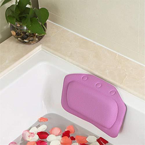 Oreiller de baignoire DJXM, oreiller de baignoire Home Spa, coussin de support de cou en PVC, oreiller de baignoire avec ventouse, accessoires de salle de bain VIOLET