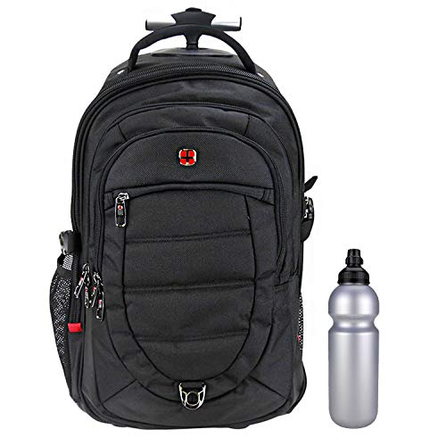 Trolley NEW BAGS BUSINESS PRO 2 Rucksacktrolley Trolleyrucksack Pilotentrolley mit Laptopfach + CO2 Flasche
