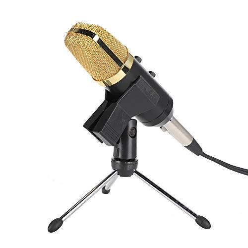 Vbestlife1 Micrófono USB para computadora, Micrófono de Escritorio Computadora portátil Conjunto de micrófono unidireccional 78dB, Agregar Efecto de reverberación, Plug and Play