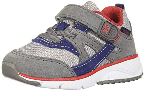 Stride Rite Boys' M2P Indy Sneaker, Navy/Grey, 7.5 W US Toddler