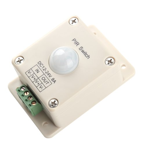BQLZR DC 12V~24V 8A Automatic LED PIR Motion Sensor Switch Light Lighting Delay Time 10 Seconds for Staircase