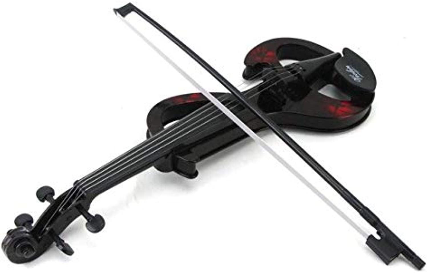 Laliva Very Artistic Touch Sounding Dark-Handsome color ABS Violin Kids Educational Music Instrument Toy Play Set Powered by Battery - (color  Red)