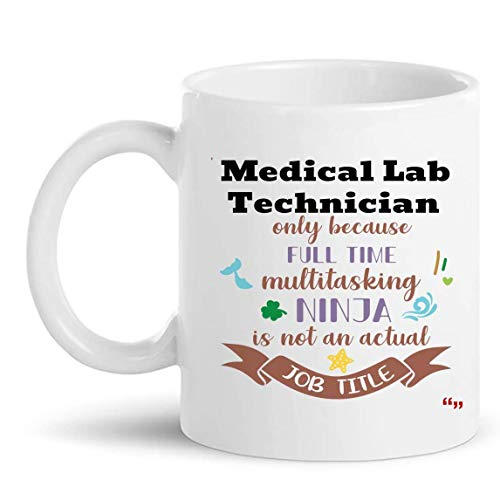 Not Applicable La Mejor Taza de técnico de Laboratorio médico Taza de café de 11 oz - Regalo de técnico de Laboratorio médico Regalos Personalizados para Hombres Camisetas de Mujer Tazas Tazas