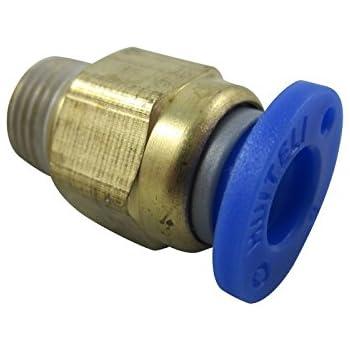 5 PCS BSPT Connectors  4mm-1//8 Pneumatic Threaded Male