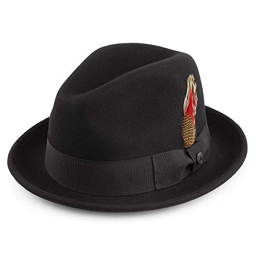 Jaxon & James Chapeau Trilby Déformable Blues Noir Large