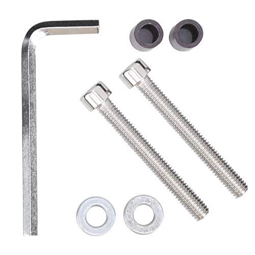 Wosune Tenedor del Extensor, Soporte del Ordenador de la Bicicleta 120g, aleación de Aluminio para la Bicicleta de la Bici(Silver)