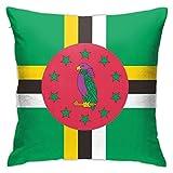 Kissenbezug Dominica Flagge, dekorativer Kissenbezug, Heimdekoration, quadratisch, 45,7 x 45,7 cm