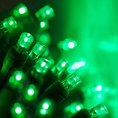 70 5mm Green LED String Lights, 24' Green Christmas Lights LED Halloween Lights St. Patricks Day Lights Holiday Lights Mini Lights Halloween Decorations Outdoor