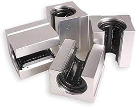 Glamorway Pack of 4pcs SBR10UU or SBR12UU or SBR16UU or SBR20UU Aluminum Linear Router Motion Bearing Solide Block (SBR12UU)