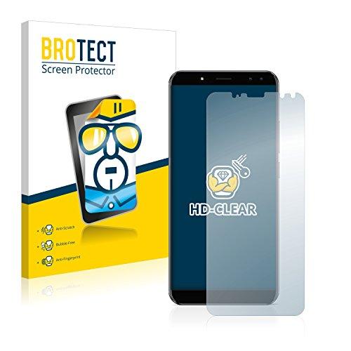 BROTECT Schutzfolie kompatibel mit Ulefone Power 3 (2 Stück) klare Bildschirmschutz-Folie
