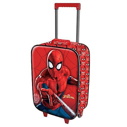 Karactermania Spiderman Spiderweb-Soft 3D Trolley-Koffer Equipaje Infantil 52 Centimeters 23 Rojo (Red)