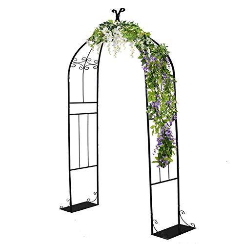 WUK Soporte de Flores Arcos de Boda, Marco Decorativo, pérgola de Fondo de jardín, para Fiesta de cumpleaños, Estante de Metal para Escalada de Plantas al Aire Libre, 30x80x205cm