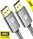 Cable Display Port 144Hz/2m, Admite 4K@60Hz, 2K@144Hz, 2K@165Hz, 3D, Compatible con FreeSync y G-Sync, Silkland Cable DisplayPort para 144Hz Monitor, 4K UHD TV, Pantalla y Tarjeta Gráfica para Juegos