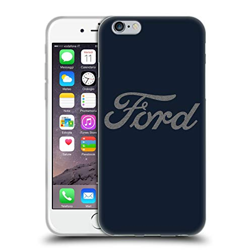 Head Case Designs Officially Licensed Ford Motor Company Detroit Ornament Logos Soft Gel Case Compatible with Apple iPhone 6 / iPhone 6s