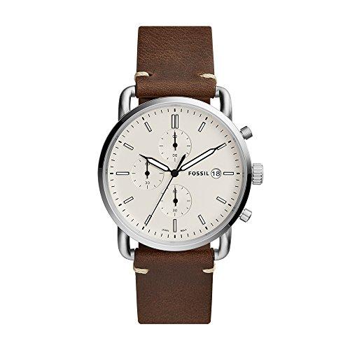 Fossil Herren Chronograph Quarz Uhr mit Leder Armband FS5402
