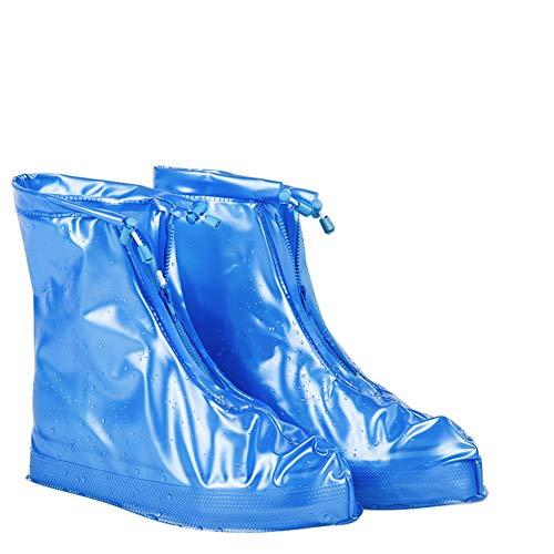 Warmth Supplies Botas de Lluvia Set Hombres y Mujeres al Aire Libre Botas de Lluvia Set de Viaje Impermeable días de Nieve Antideslizante Gruesas Cubiertas de Zapatos Resistentes al Desgaste