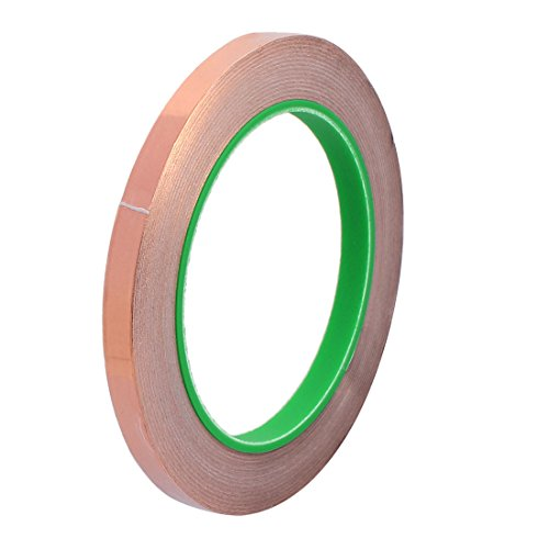 Aexit 8mm Breite 20m Länge DIY selbstklebendes doppelseitiges leitfähiges Kupferfolienband (31bb902a924c11e795a5fbb587ccb29d)