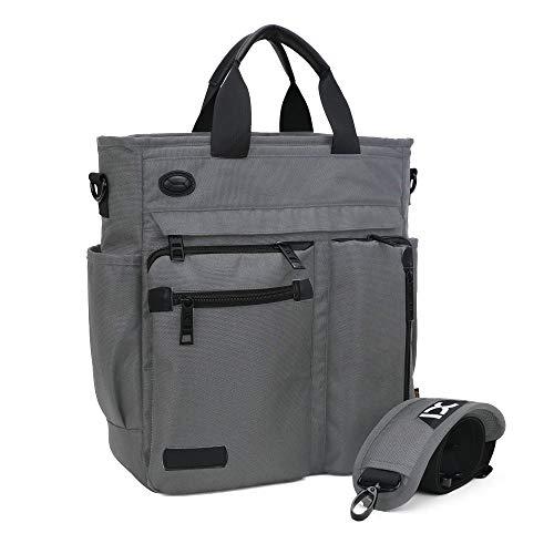 IBTXO Crossbody Messenger Bag for Men/Multifunction Shoulder Bag/Business Laptop Bag/College School Bookbag (grey-big size)