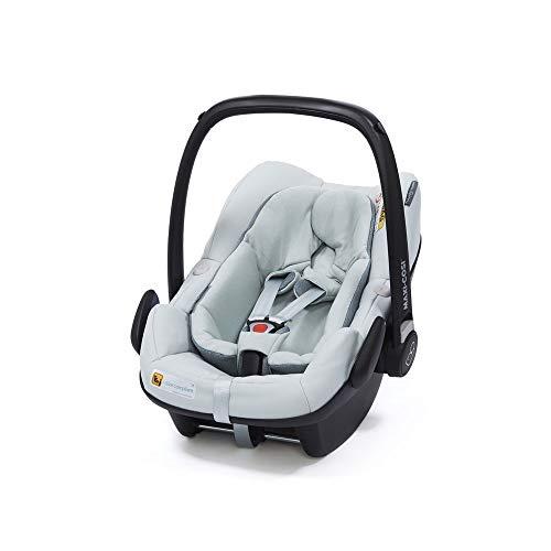 Maxi-Cosi Pebble Plus Babyschale, sicherer Gruppe 0+ i-Size Kindersitz (0-13 kg), nutzbar ab der Geburt bis ca. 12 Monate, passend für FamilyFix One Basisstation, grey