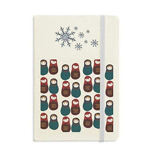 Rusia - Cuaderno para niños y niñas, diseño de copos de nieve