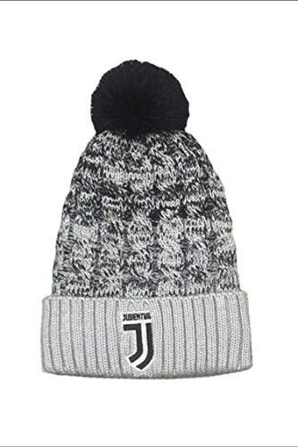 cappello juventus bambino Juventus Cuffia Juve PON PON Ufficiale Cappello Berretto PONJJ01BI grigio-nero
