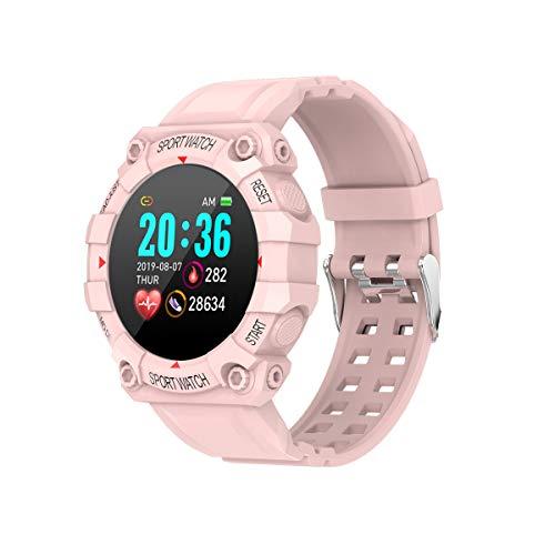 WSJZ Reloj Inteligente para Mujeres/Hombres,Pulsera Inteligente con Pantalla Táctil Completa De 1,3',Monitores De Actividad Física con Monitor De Frecuencia Cardíaca,para Teléfono Android/iOS,Rosado