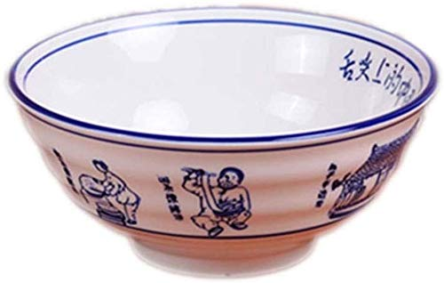 Apparence Mode Créative Vaisselle Pièces de service Ramen Bowl soupe de nouilles Bowl ménages Pasta Bowl fruits Saladier Petit déjeuner Bol Déjeuner Bowl table de cuisine Bowl (avec cuillère et baguet