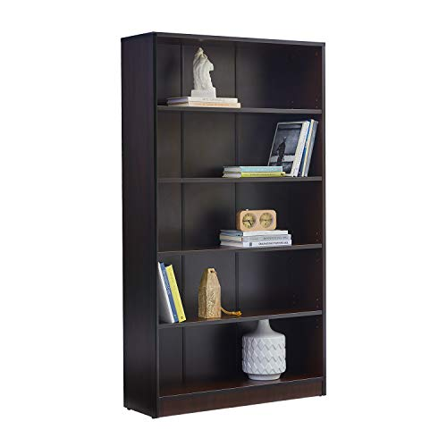 Adjustable Wood Desktop Storage Organizer Display Shelf Rack, Counter Top Bookcase, Brown