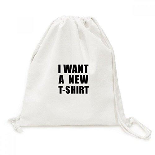 DIYthinker Quiero una Nueva Camiseta Recorrido de la Lona del morral del...