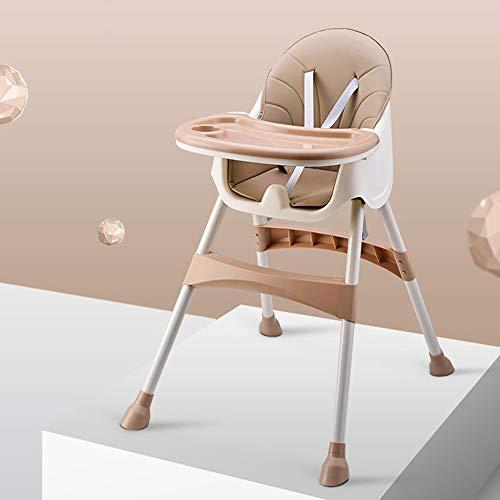ZCFXGHH hoge kinderstoel, multifunctionele kindereettafel, de opvouwbare kindereetkamerstoel, geel